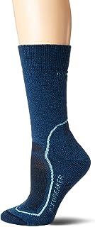 Icebreaker Merino Women's Hike+ Medium Crew Socks, Prussian Blue/Waterfall/Midnight Navy, Medium