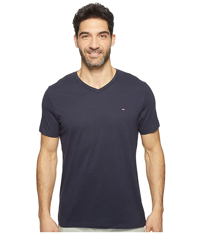 Tommy Hilfiger Short Sleeve Core Flag V Neck Tee