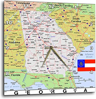 Florida Topographic Map.Amazon Com 3drose Lens Art By Florene Topo Maps Flags Of States