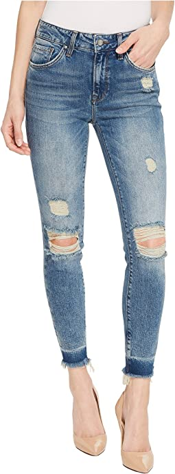 Tess High-Rise Super Skinny Ankle in Shaded Ripped Vintage