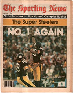 The Sporting News Newspaper February 2, 1980 Number 1 Again Pittsburgh Steelers GOOD