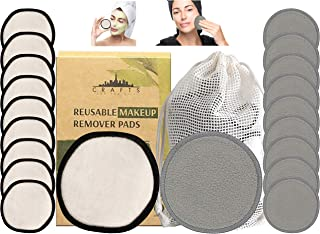 Reusable Makeup Remover Pads - 20 PACK With Laundry Bag - SOFT NYC Designed Reusable Cotton Pads For Face Pads - Washable ...