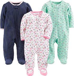 Baby Girls' 3-Pack Sleep and Play