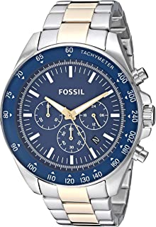 5946ca06d19 Fossil Men s Neale Quartz Watch with Stainless-Steel-Plated Strap