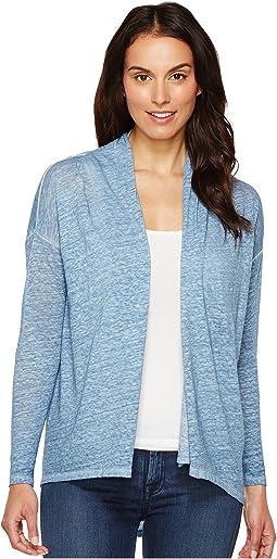 Long Sleeve Pigment Dye Drape Front Cardigan