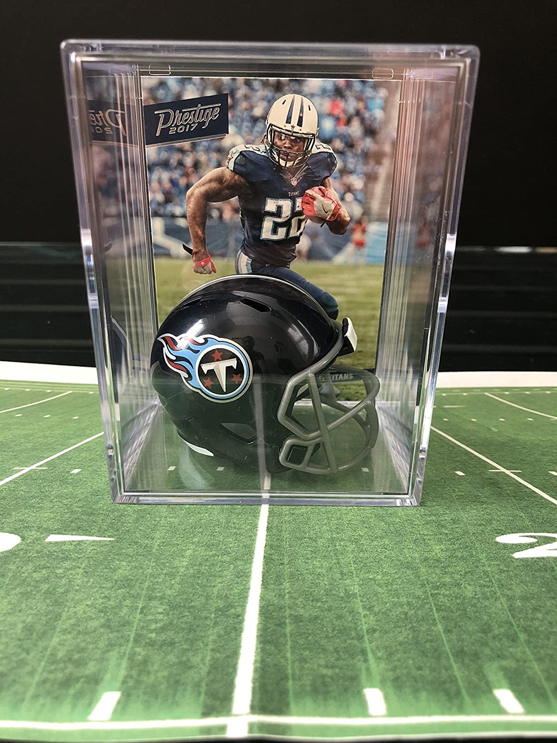 Tennessee Titans Limited time trial price NFL Draft Helmet card Derrick Henry Shadowbox 2021 w