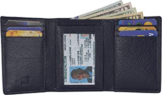 Slim Leather Billfold for Men – Men's Trifold Minimalist RFID Blocking Leather Wallet