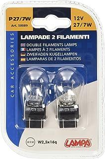 Lampa 58089 Glühlampe, 2 Glühfäden, P27, 7 Watt, 12 Volt