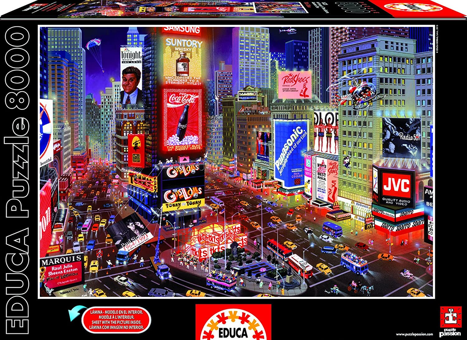 Educa 16325 - Puzzle - EIN Abend In Times Square, 8000-Teilig