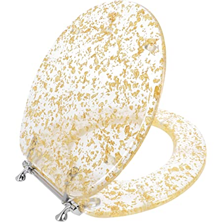 Ohok High Quality Toilet Seat,Colorful Printed Design Toilet Seats for Bathroom Toilet,Great Range of Colors and Patterns,Stable Hinges,Easy to Mount Elephant Sea