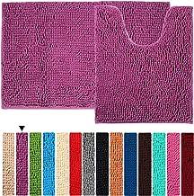 Bath Rugs 2 Pieces Floor Non Slip Bathroom Mat ORANIFUL Microfiber Shaggy Toilet Mat Plush Super Water Absorbent Machine W...