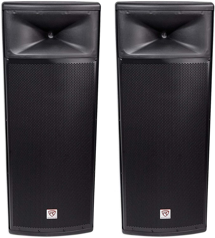 Pair Rockville SPGN254 Dual 15 3000w Max 71% OFF PA DJ Speaker 4-Ohm Passive shop
