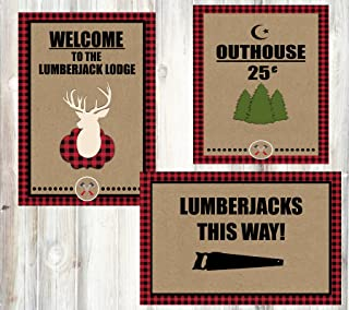 Silly Goose Gifts Welcome Lumberjack Camping Outdoor Themed Party Decorations