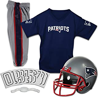 f635dfec8418e6 Franklin Sports Deluxe NFL-Style Youth Uniform – NFL Kids Helmet, Jersey,  Pants