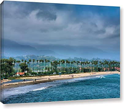 Art Wall The Beach At Santa Barbara Gallery Wrapped Canvas Artwork By Steve Ainsworth 24 By 32 Inch Oil Paintings Posters Prints Amazon Com