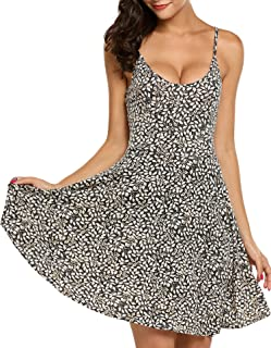ACEVOG بدون آستین زنان قابل تنظیم بدون آستین تابستانی ساحلی تابستانی لباس گل تابستانی متناسب با لباس تابستانی