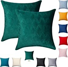 Bright Olive Green Pillow Covers - Wave Pattern Velvet (Covers ONLY) for Pillows Decorative Couch Throw Pillows at Living ...