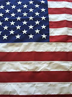 Best Commercial Grade Polyester American Flag 12'x18' US Flag Made in the USA Embroidered Stars Sewn Stripes by Flags Poles And More,Red, White, and Blue