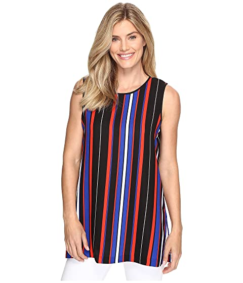 2982d89c5975eb Vince Camuto Sleeveless Core Multi Stripe Blouse with Slits at 6pm