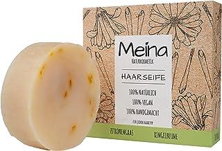 Meina - Haarseife Naturkosmetik - Bio Shampoo Bar mit Zitronengras und Ringelblume 1 x 80 g palmölfrei, vegan festes Shampoo, Shampooseife für Männer und Frauen