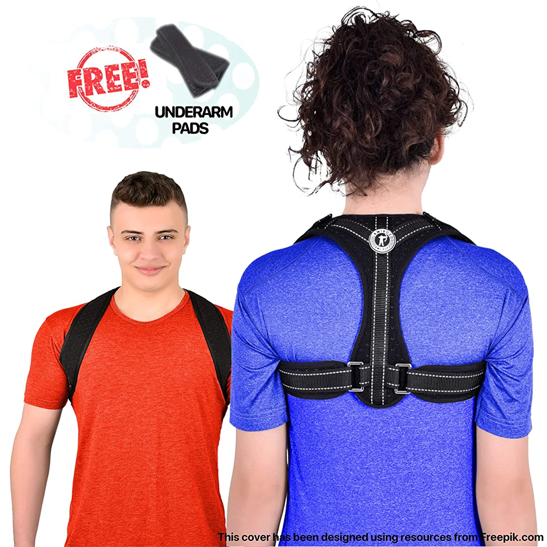 Posture Corrector Back Brace - for Women and Men, Discreet Under Clothes, FDA Approved, Adjustable and Breathable, Clavicle Shoulder Support for Back Pain Relief with Underarm Pads