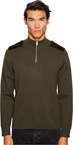 The Kooples - Pullover with Zip Collar Yoke and Decorative Shoulder Plackets