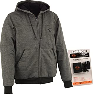 Milwaukee Performance-Men's Heated Hoodie w/Front&Back Heating Elements-BATTERY PACK INCLUDED-GREY-4X-LARGE