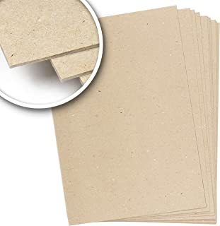 Carton rigide compact de 2,5 mm, 1 600 g/m², 26 x 38 cm, carton rigide pressé pour reliure, scrapbooking, travaux manuels....