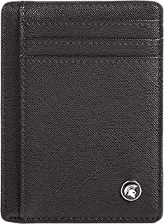 POWR Mens Wallet, Slim RFID Blocking Minimalist Credit Card Holder (Black, Textured), Holds up to 7 Cards and Bank Notes, ...