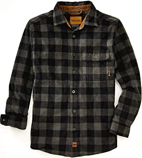 Mens Plaid Shirts for Men - Heavyweight Buffalo Plaid Fleece Shirt