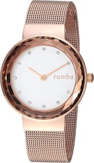 RumbaTime Women's 'Santa Monica' Quartz Stainless Steel Casual Watch, Color:Rose Gold-Toned (Model: 26962)