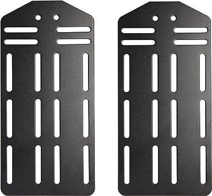 Kings Brand Queen - King Bed Frame Headboard Bracket Modification Modi-Plate,  Set of 2