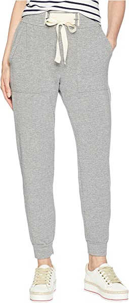 Dream Slub Lace-Up Jogger in Heather Grey