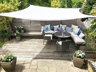 comprar comparacion Toldo Vela Clara Shade Sail blanco impermeable sol vela de sombra para jardin impermeable UV Canopy (Square 3.6m)