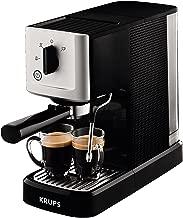 Krups Espresso Intenso Calvi Meca XP344010 - Cafetera compacta de 15 bares de presión y sistema electrónico de regulación térmica, boquilla de vapor para un capuchino óptimo y ajuste personalizable