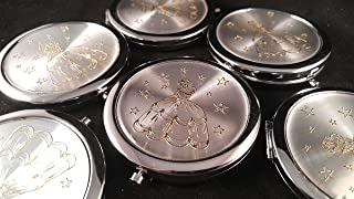Quinceañera Recuerdos. My Sweet 15 Princess Celebration Gifts Silver Plate Mirror memories Party Favor Set (12)