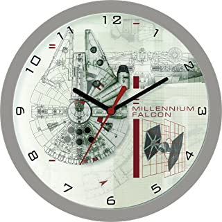 Zeon Plastic Wall Clock - Star Wars - Millennium Falcon - 25cm - STAR358