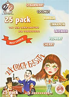 MACUSA cf-25pk La Chica Fresita Automotive Air Spencer Freshener, Strawberry, Pack of 25