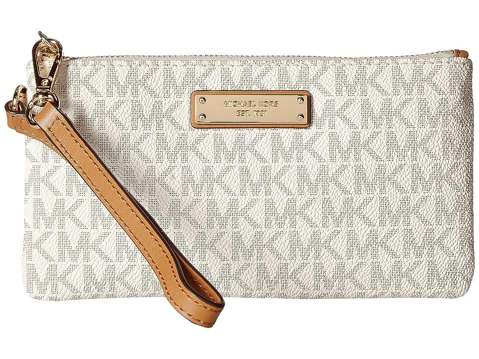 MICHAEL Michael Kors Wristlets Medium Wristlet (Vanilla) Handbags