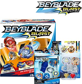 BEYBLADE Burst Bundle Exclusive -- Epic Rivals Battle Set, Rip Fire Starter Pack Valtryek V2, and Dual Pack Caynox and Wyvron W2