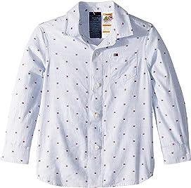 8f5be52e324 Tommy Hilfiger Adaptive Magnetic Button Shirt (Little Kids/Big Kids ...