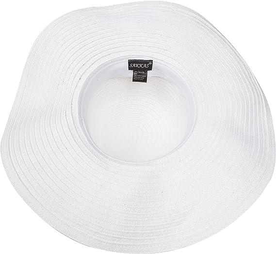 Sakkas Daisy UPF 50 100/% Chapeau de Disquette /à Large Rebord en Papier avec Fleurs