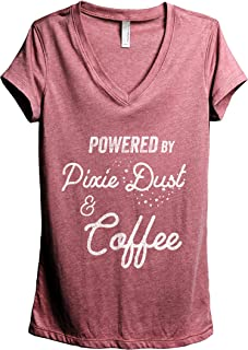 Thread Tank Powered by Pixie Dust and Coffee Women's Relaxed V-Neck T-Shirt Tee