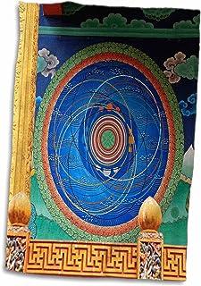 "3d Rose bhutan-cosmic mandala-punakha dzong-buddhism-as04kwi0047-kymri toalla de Wilt, 15"" x 22"""