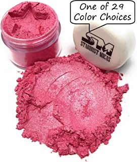 Stardust Micas Pigment Powder Cosmetic Grade Colorant for Makeup, Soap Making, Epoxy Resin, DIY Crafting Projects, Bright True Colors Stable Mica Batch Consistency Pink Watermelon