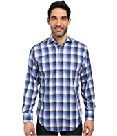Thomas Dean & Co. - Long Sleeve Woven Shadow Plaid