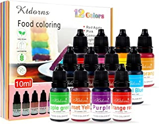 Food Coloring - 12 Color cake food coloring liquid Variety Kit for Baking, Decorating,Fondant and Cooking, Slime Making Su...
