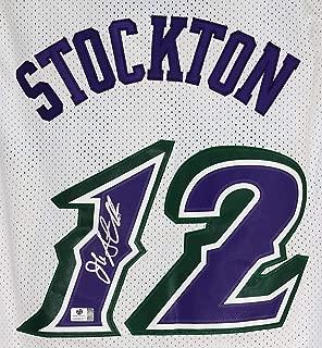 john stockton autograph