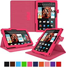 rooCASE Kindle Fire HDX 8.9 Tablet (2014) Case, new Kindle Fire HDX 8.9 Dual View Folio Case Cover, Magenta