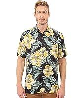 Tommy Bahama - Printed Plaid Hibiscus Camp Shirt